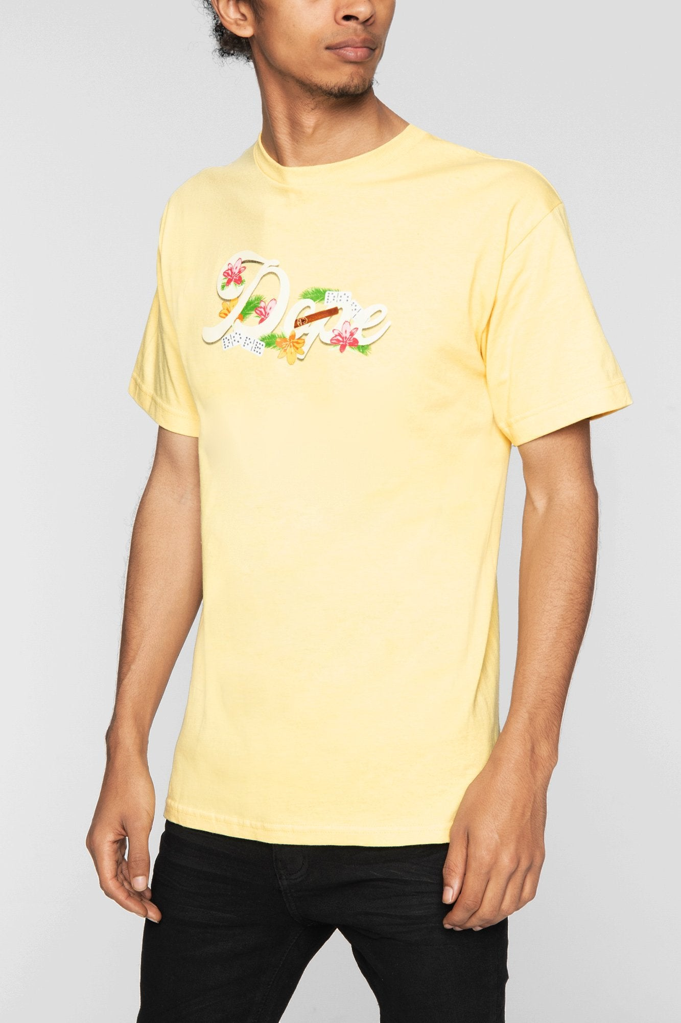 DOPE Havana Tee #Pale Yellow