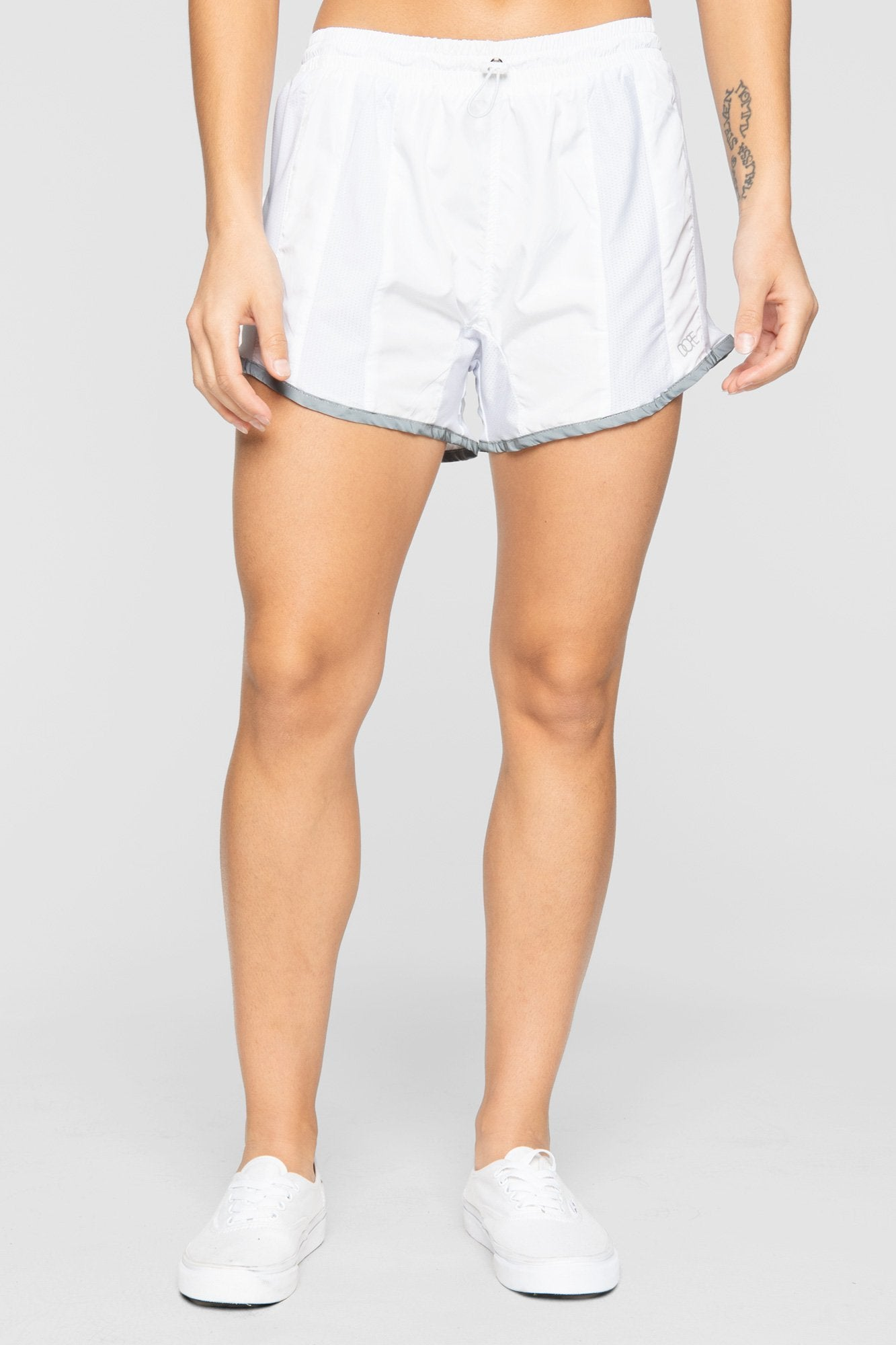 DOPE Reflective Running Shorts #White