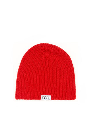 DOPE Woven Label Beanie #Red