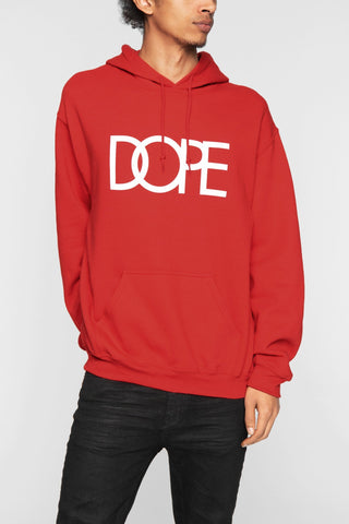 DOPE Classic Logo Hoodie #Red