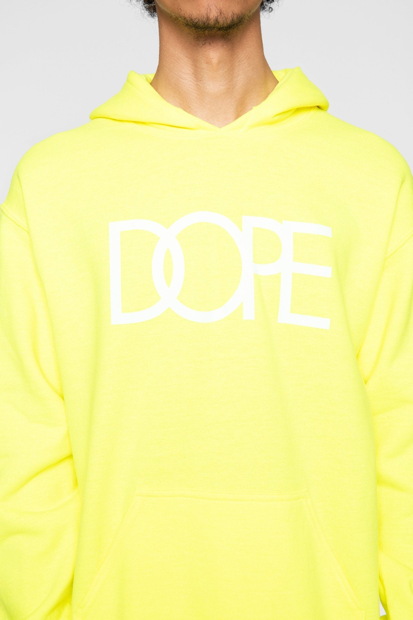 DOPE Logo Hoodie #Safety Green
