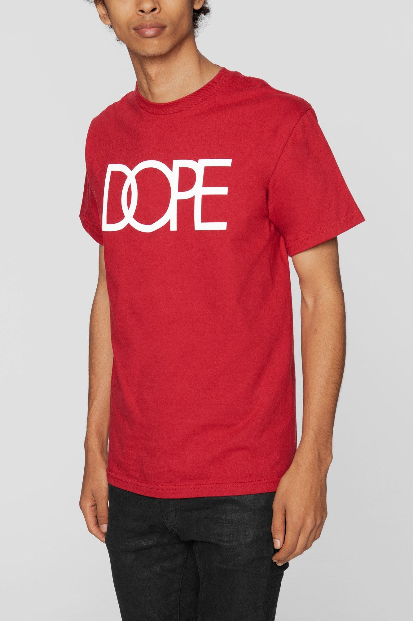 DOPE Classic Logo Tee #Red/White