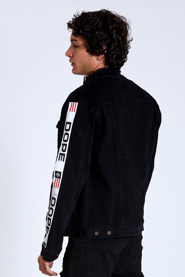 DOPE F1 Denim Jacket #Black