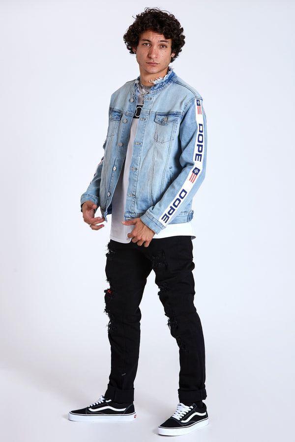 DOPE F1 Denim Jacket #Blue