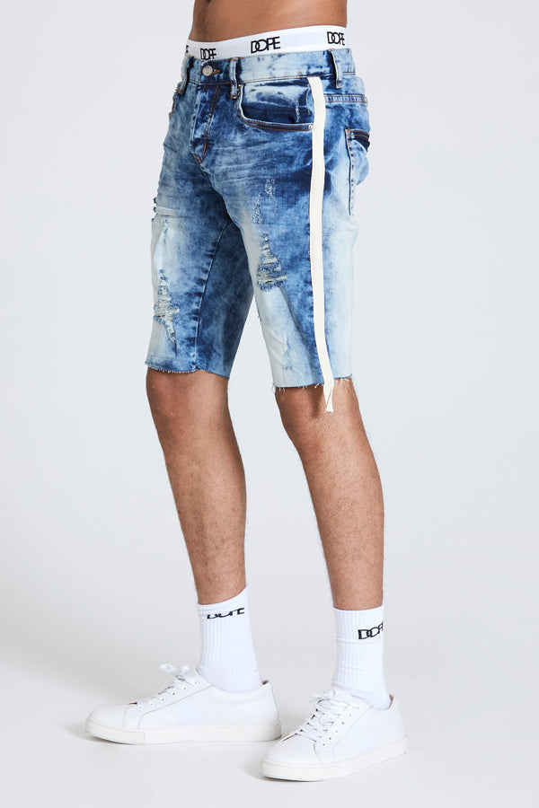 DOPE Barry slim-fit denim shorts #Blue