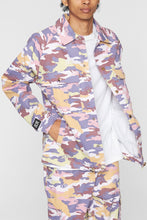 Load image into Gallery viewer, DOPE Camo Sateen Jacket #Purple