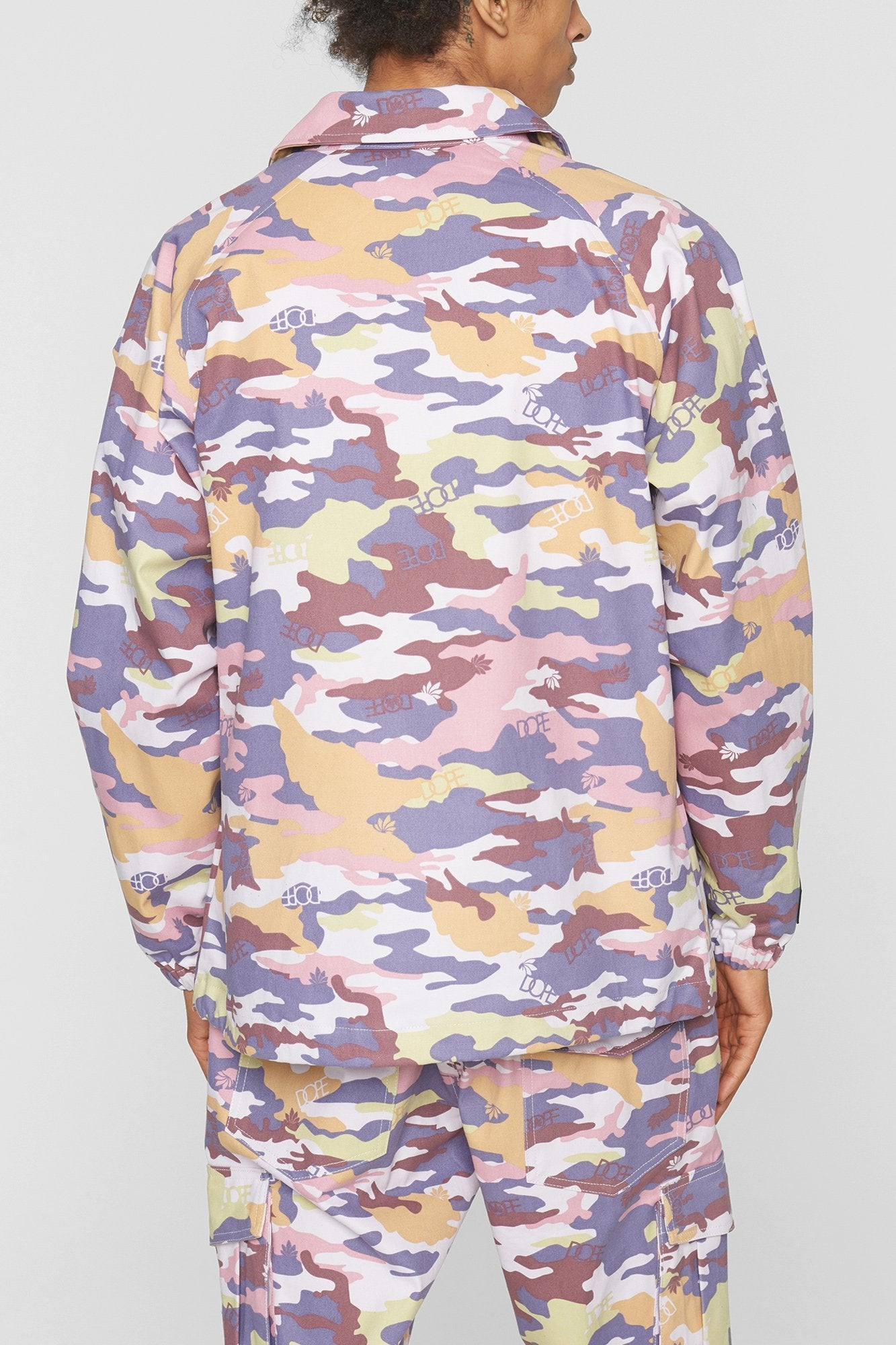DOPE Camo Sateen Jacket #Purple