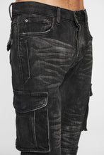 Load image into Gallery viewer, DOPE Cargo Denim #Black