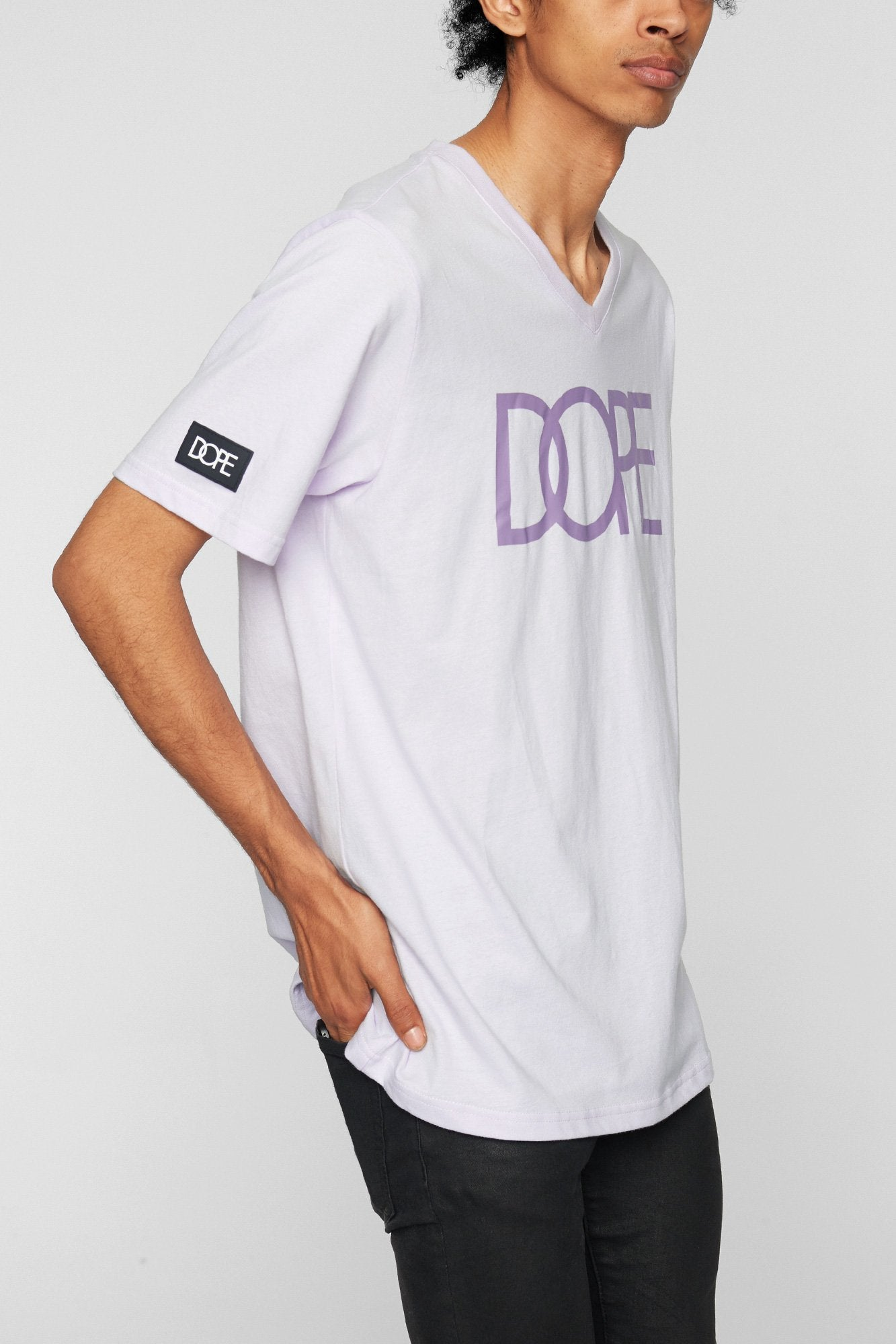 DOPE Classic Logo V Tee #Lilac