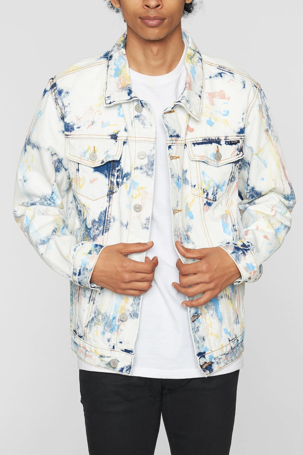 DOPE Feather Tie Dye Denim Jacket #Tie Dye