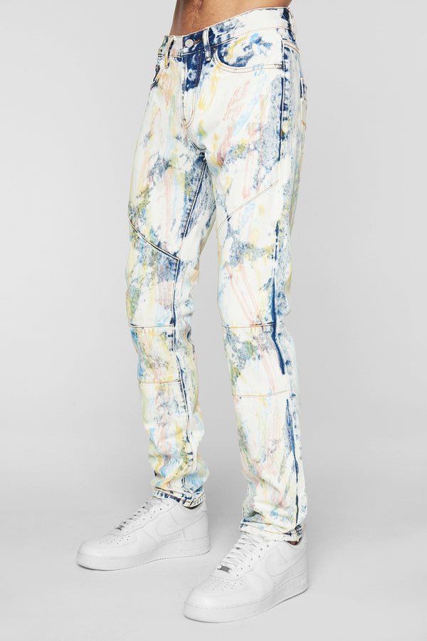 DOPE Feather Tie Dye Denim #Tie Dye