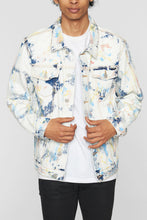 Load image into Gallery viewer, Feather Tie Dye Denim Jacket