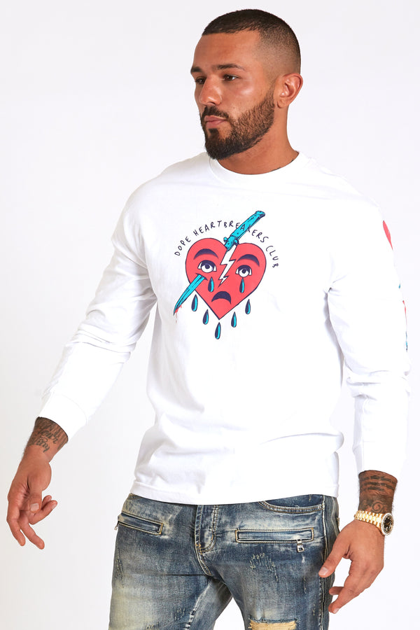 DOPE Heartbreaks L/S #White