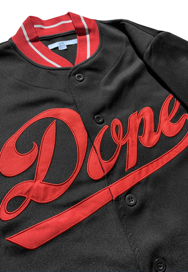 DOPE Infield Jersey #Black/Red