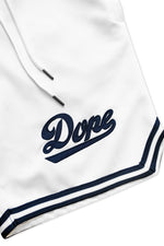 DOPE Infield Shorts #White/Navy