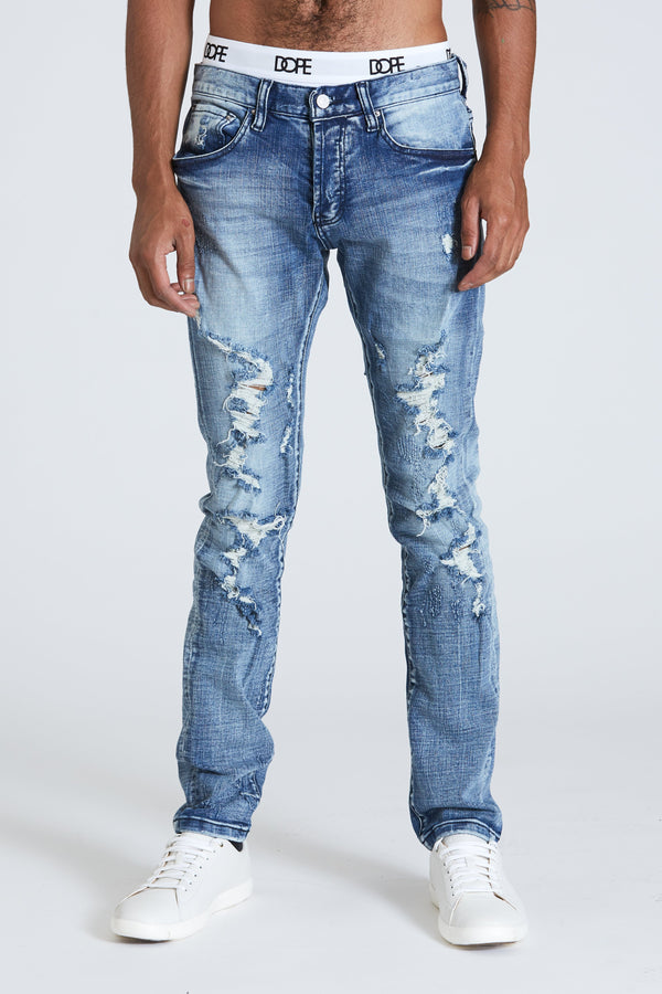 DOPE distressed Centro Denim #Blue