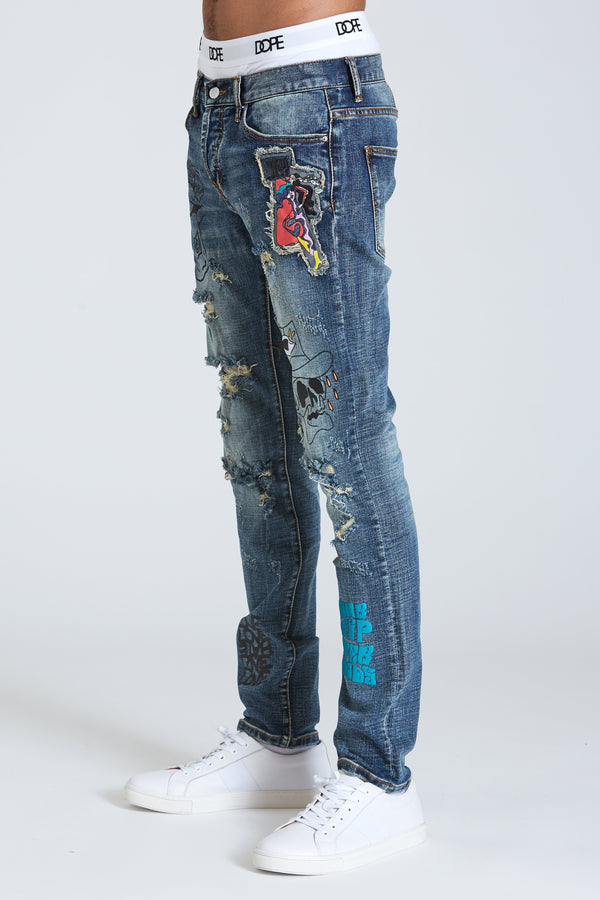 Dope Hart Denim #Blue