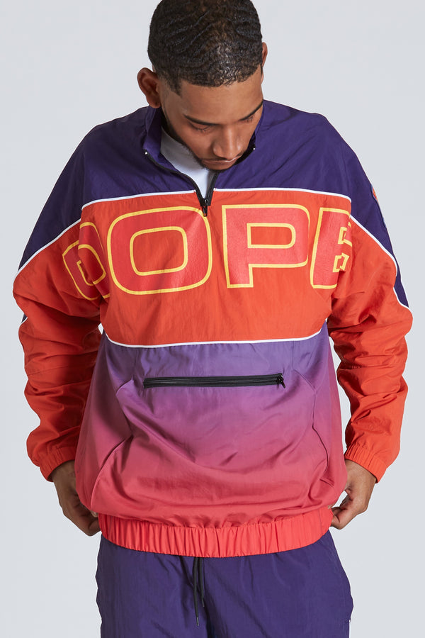 DOPE Retro Pullover Windbreaker #Navy