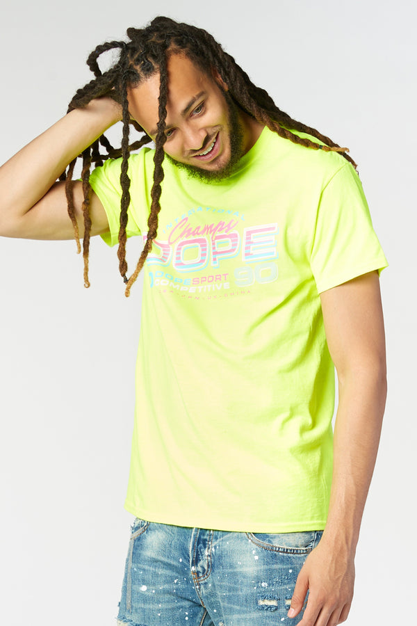 DOPE Retroset Tee #Safety Green