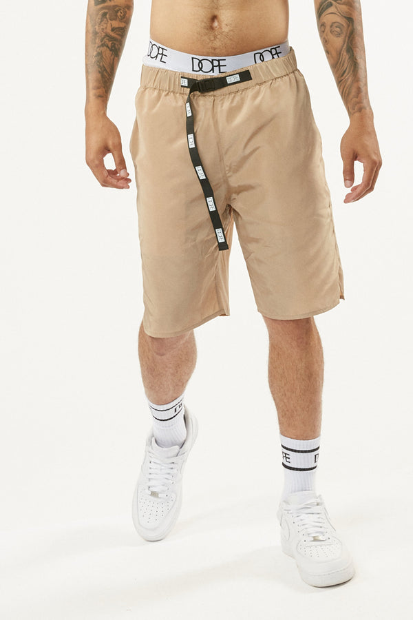 DOPE Weekend Nylon Shorts #Khaki