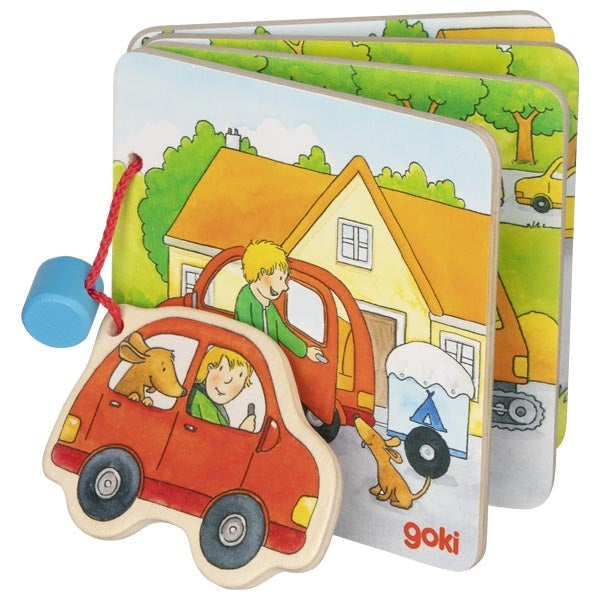 Goki Wooden Picture Book - Going on Holiday!