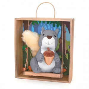 Apple Park Organic Picnic Pal Swinging in Crate - Squirrel