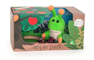 Apple park Organic Crawling Critter Baby Teething Toy - Caterpillar