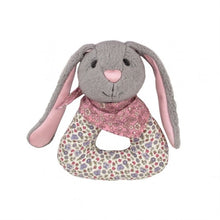 Load image into Gallery viewer, Apple Park Organic Baby Patterned Rattle - Bunny
