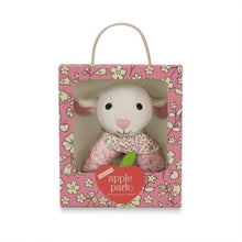 Load image into Gallery viewer, Apple Park Organic Baby Patterned Rattle - Lamby