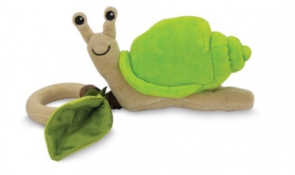 Apple park Organic Crawling Baby Teething Toy - Snail