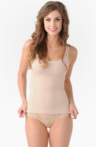 Belly Bandit Mother Tucker Scoop Neck Compression Tank - Nude
