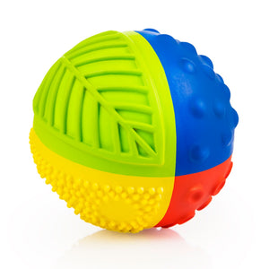 "CaaOcho Baby Natural Rubber Sensory Ball - Rainbow with Mold Free Design (Small 8 cm/ 3"")"