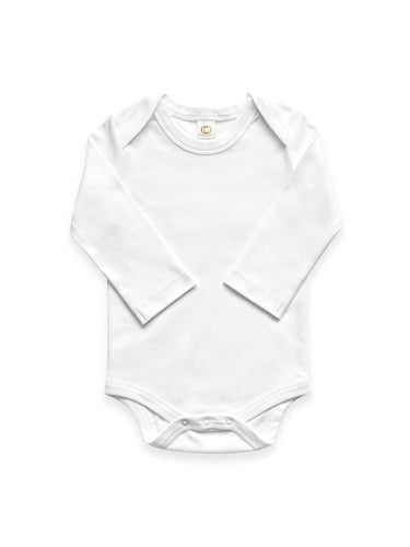 Colored Organics Long Sleeve Onesie - White