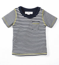 Load image into Gallery viewer, Colored Organics Short Sleeve Everest Tee Shirt (Anchor Stripe)