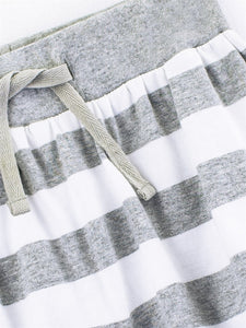 Colored Organics Kenzie Pull-On Skirt (White/Heather Grey) - Size: 2T, 4T