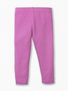 Colored Organics Leah Leggings (Wisteria / White Polka Print)
