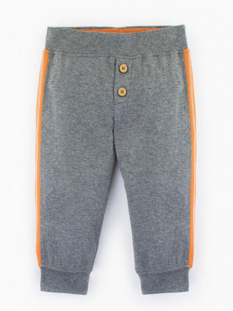 Colored Organics Evan Jersey Jogger Pant (Heather Grey/Clementine)