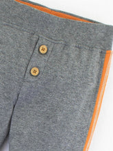 Load image into Gallery viewer, Colored Organics Evan Jersey Jogger Pant (Heather Grey/Clementine)