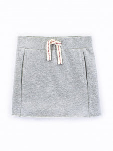 Colored Organics Raw Edge Skirt (Heather Grey) - Size 2T, 3T, 4T