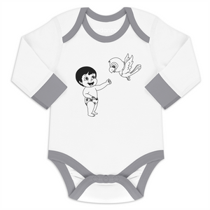 Endanzoo Organic Long Sleeve Onesie - Jen and Macaw Bird