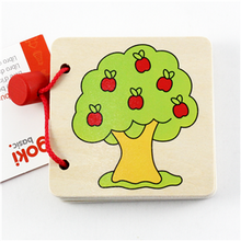 Load image into Gallery viewer, Goki Wooden Picture Book - Apple Tree