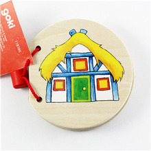 Load image into Gallery viewer, Goki Wooden Picture Book - House