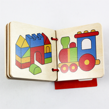 Load image into Gallery viewer, Goki Wooden Picture Book - Airplane