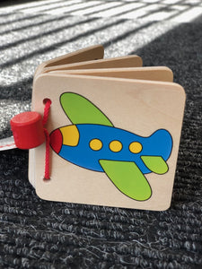 Goki Wooden Picture Book - Airplane