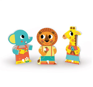Janod - Funny Magnet One Day At The Zoo (3 Pieces)