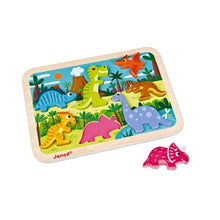 Load image into Gallery viewer, Janod Wooden Puzzle - Dinosaur Chunky
