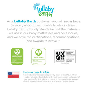 Lullaby Earth Super Lightweight Breeze Crib Mattress - White (LE16 / 2-Stage)