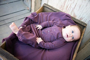 L'ovedbaby Organic Gown - Eggplant