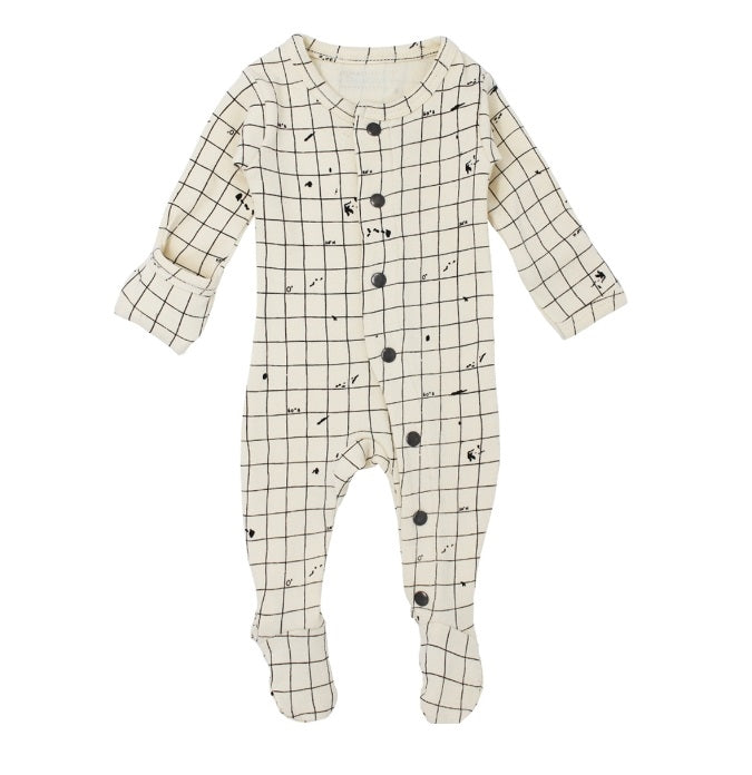 L'ovedbaby Gl'oved-Sleeve Organic Footie - Beige Coordinates