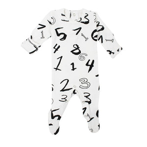 L'ovedbaby Graphic Organic Footie - Numbers